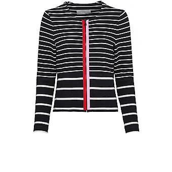 Bianca Navy & White Striped Jacket