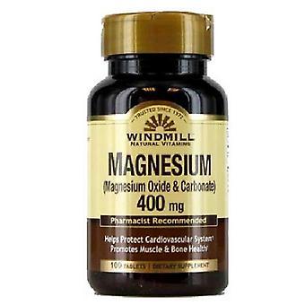 Windmill magnesium, 400 mg, tablets, 100 ea