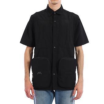 En kall vägg Acwmsh006whlblak Män & apos, s svart nylon skjorta