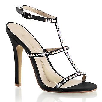 Fabulicious Frauen's Schuhe MELODY-18 Blk Satin