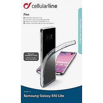 Cellularline Fine TPU Back cover Samsung Galaxy S10 E Transparent