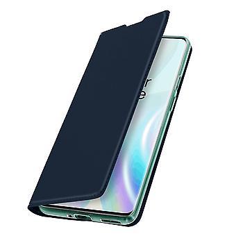 Slim flip wallet case, Business series for OnePlus 8 Pro - Night blue
