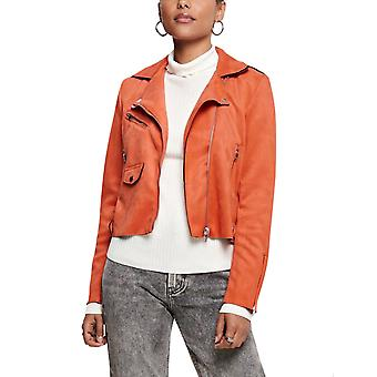 Solo Donne's Sherry Crop Bonded Biker Giacca Camel