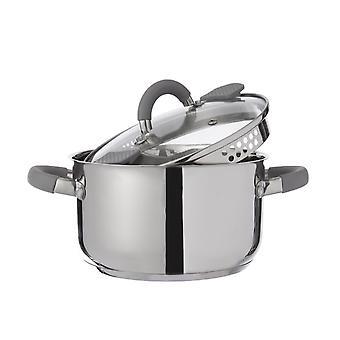 Pentola Cook Colore Grigio in Acciaio inossidabile, L26xP35xA28 cm