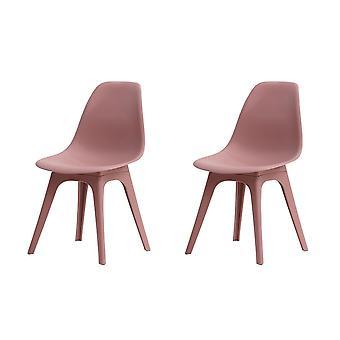 Carina Purple Color Stuhl in Polypropylen, Beine Holz 53x46x82.5 cm