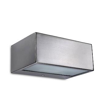 Nemesis Halogen Wall Lamp, Stainless Steel And Glass