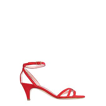Philosophy By Lorenzo Serafini 320821690117 Women's Red Leather Sandals