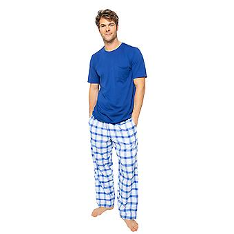 Cyberjammies Dylan 6506 Men's Blue Mix Check Pyjama Pant