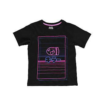 Super Mario T Shirt Bullet Bill Logo new Official Womens Skinny Fit Black