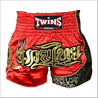 Twins special red gold muay thai shorts