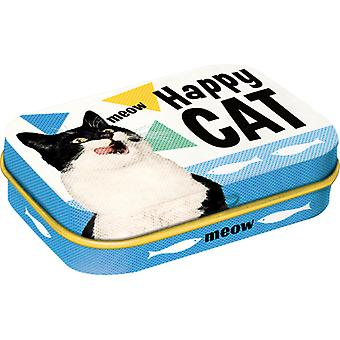 Happy Cat Nostalgic Sugar Free Mint Tin - Cracker Filler Gift