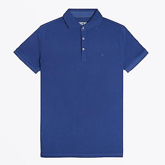 Thomas Maine  - Washed Pique Polo Shirt - Dark Blue