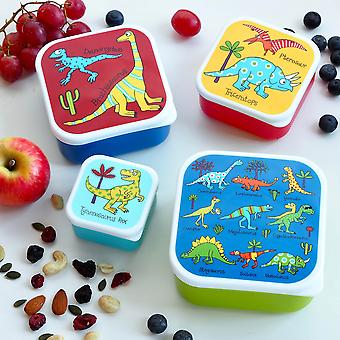 Tyrrell Katz Set of 4 Dinosaurs Snack Boxes for Kids