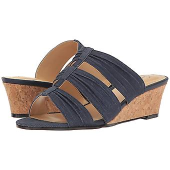 Trotters Womens MIA Leather Open Toe Casual Slide Sandals