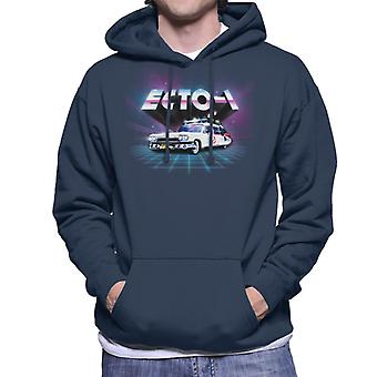 Ghostbusters ECTO 1 Retro 80's Men's Hooded Sweatshirt
