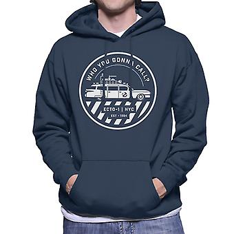 Ghostbusters ECTO 1 NYC Logo Men's Hooded Sweatshirt