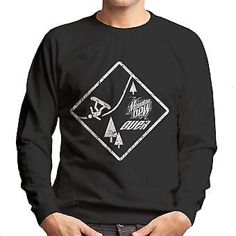 Mountain Dew Snowboarding Sign Men's Sweatshirt