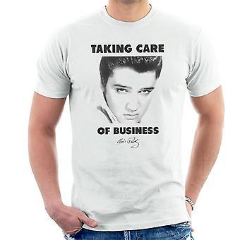 Elvis Taking Care Of Business Men's T-Shirt