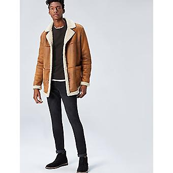 Encontrar. Men's algodón redondo cuello suéter, negro, XL (US L - XL)