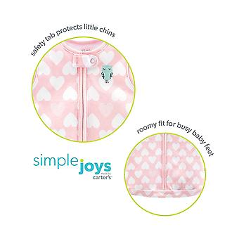 Simple Joys by Carter's Baby Girls' 3-Pack Cotton Sleeveless Sleepbag, Pink H...