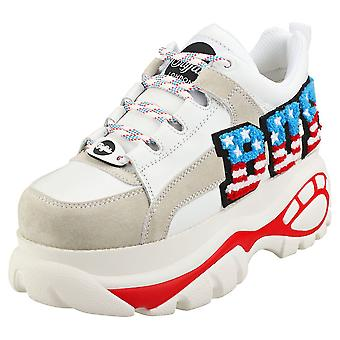 Buffalo 1337-14 2.0 Womens Platform Trainers in White Multicolour