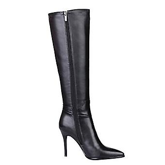 VOCOSI Women's Shoes DMJ&666-29-Black-36CN Leather Pointed Toe Knee High Fash...