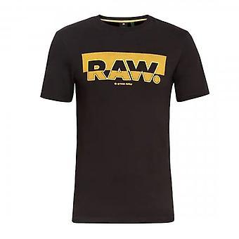 G-Star Raw Graphic Logo T-Shirt Black D17689