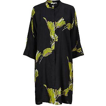 Masai Vêtements Iosetta Noir & Robe à imprimé vert
