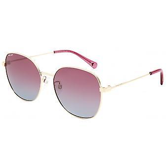 Sonnenbrille Damen  Claire   polarisiertes Gold mit rosa/blauer Linse (pclai02/P)