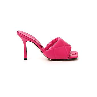 Bottega Veneta 639943vbp305521 Dames's Roze Lederen Sandalen