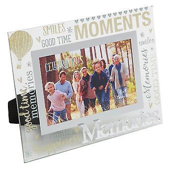 Widdop & Co. Memories 3d Words 6 X 4 Glass Photo Frame