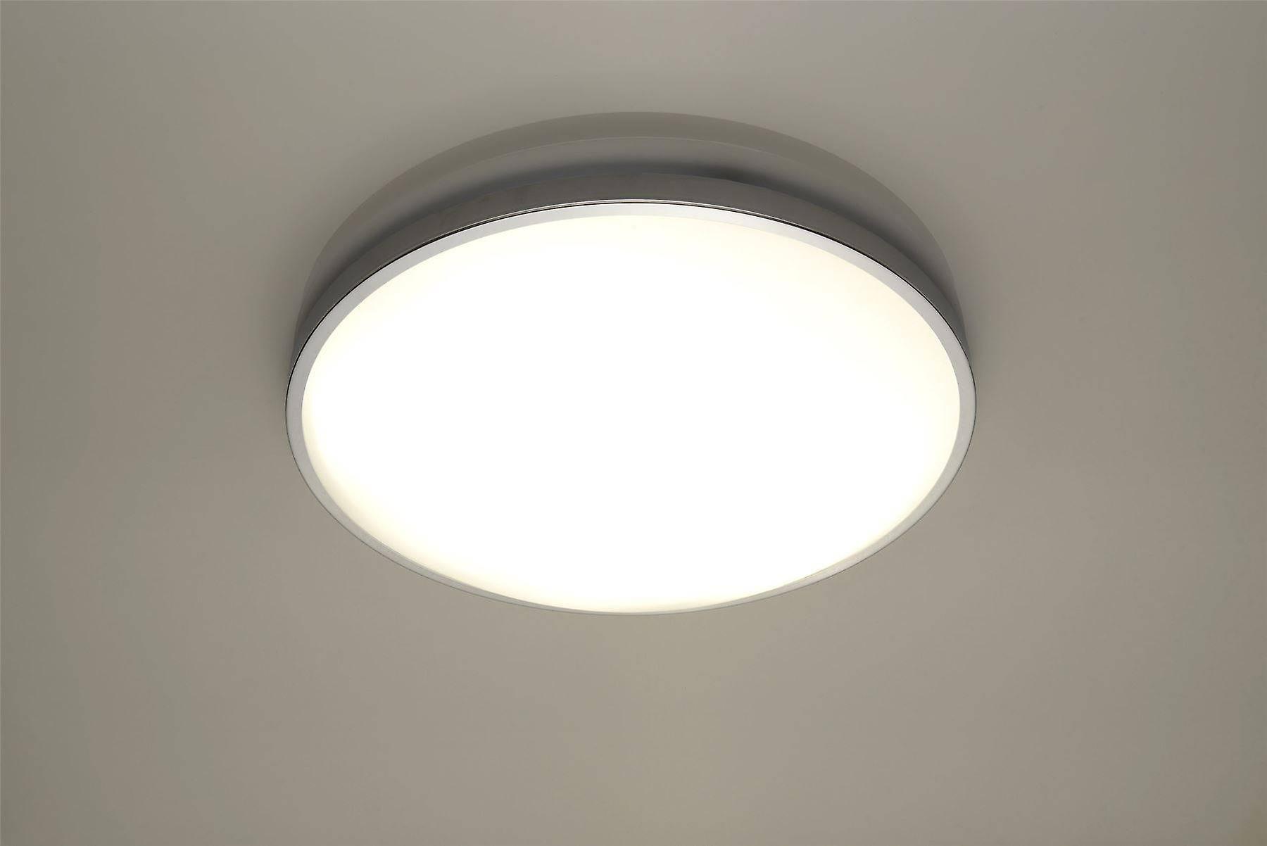 Sollux SOLAR - 2 Light Flush Ceiling Light Chrome, E27
