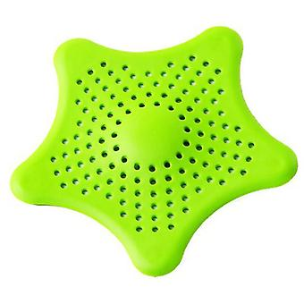 Five-pointed Star, Drain Strainers Filter Sewer Sink Waste Strainer -