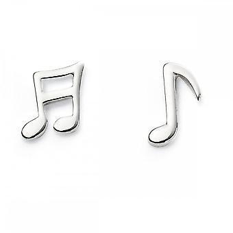 بدايات الجنيه الاسترليني الفضة ملاحظات الموسيقى الأقراط A2027