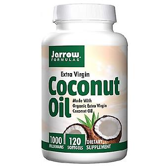 Jarrow Formulas Coconut Oil 100% Organic, 1000 mg, Extra Virgin 120 Softgels
