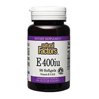 גורמים טבעיים מעורבים טוקופארול ויטמין E, 400 IU, 90 כמוסות רכות