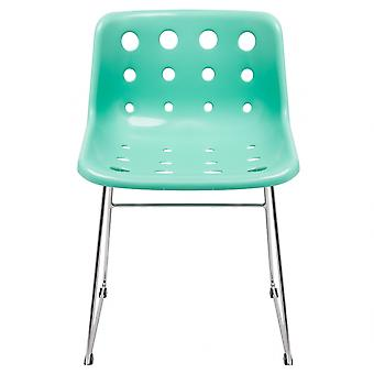 Loft Robin Day Skid Peppermint Green Plastic Polo Chair