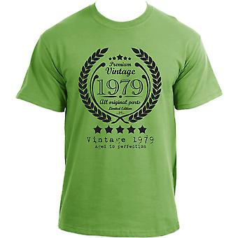 Premium Vintage 1979 Aged to Perfection Limited Edition Birthday Present Mens t-shirt