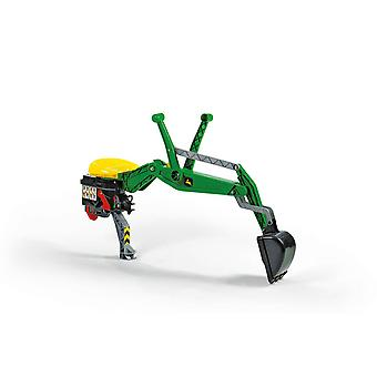 Rolly toys rear excavator - john deere green for 3 - 10 years old - green