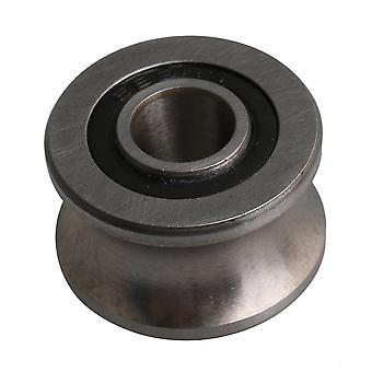 Silver Stål Kullager 22,5x13,5 mm U Typ Groove Remskiva för 12mm Bana
