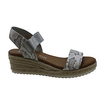 Anne Klein Womens akcait Fabric Open Toe Casual Platform Sandals