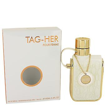 Armaf Tag Her Eau De Parfum Spray By Armaf 3.4 oz Eau De Parfum Spray