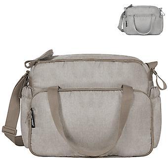 Lorelli veranderende tas met kronkelende pad, innerlijke compartimenten, buitenste compartimenten, schouderriem
