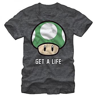 Nintendo Super Mario Get a Life Mushroom T-paita
