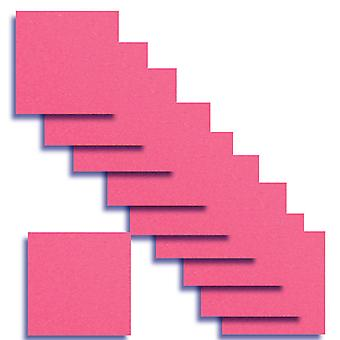10 Fluorescent Pink Square Card Insert 140 x 140