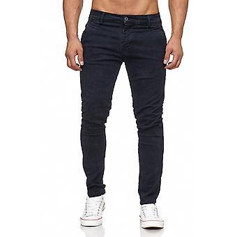 Джинсовые брюки мужские Чино джинсы узорной джинсы конические ноги