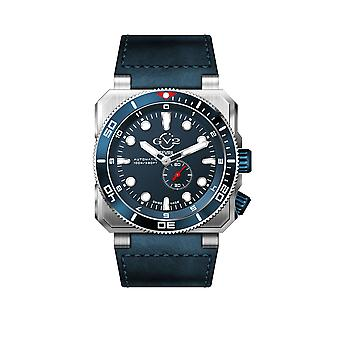 GV2 Automatic Men's XO Submarine Blue Dial SS Case Blue Calfskin Leather Watch