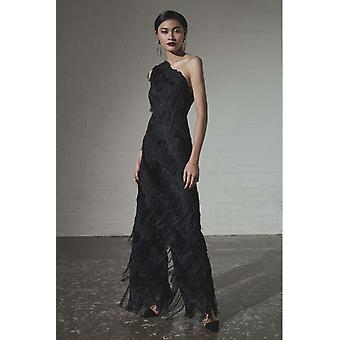 The black fringed lace jumpsuit