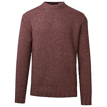 Lardini Lmml16955025600be Men's Burgundy Wool Sweater