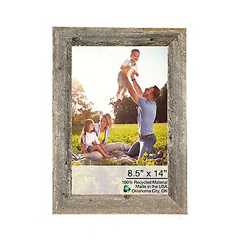 8.5x14 Natural Weathered Grey Picture Frame with Plexiglass Holder